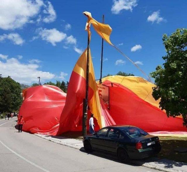 највећа црногорска застава